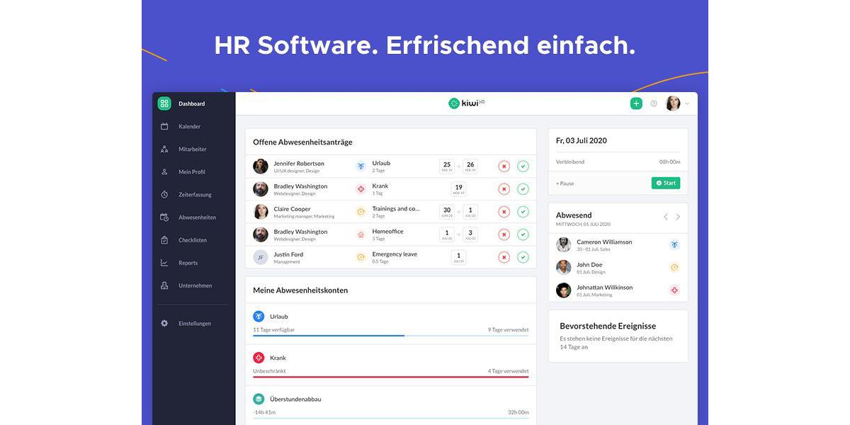 KiwiHR - Wie sieht die Software aus