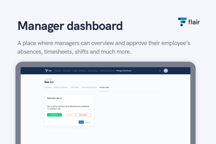 Manager Dashboard - flair.hr GmbH