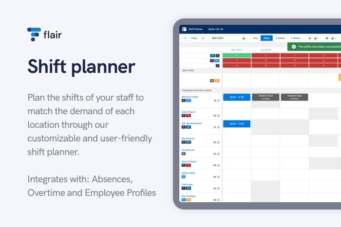 Shift Planner - flair.hr GmbH