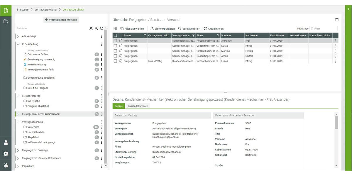 Forcont Business Technology GmbH - wie sieht die Software aus