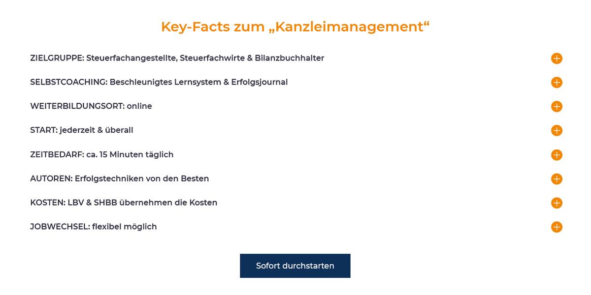 Skillgainer - Soft Skills Beispiel Kanzleimanagement-Key-Facts