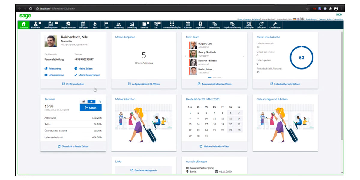 Sage HR Suite - HR Mitarbeiterportal