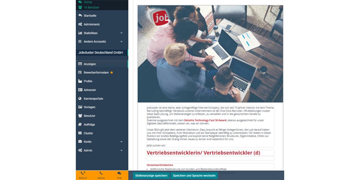 jobcluster - HR-Software - Anbieter