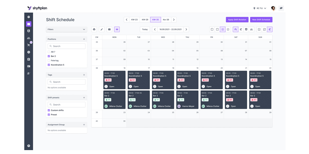 shyftplan - HR-Software Anbieter